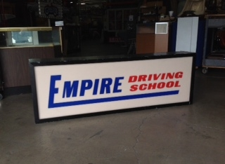 EMPIRE DRIVING SCHOOL SIGN