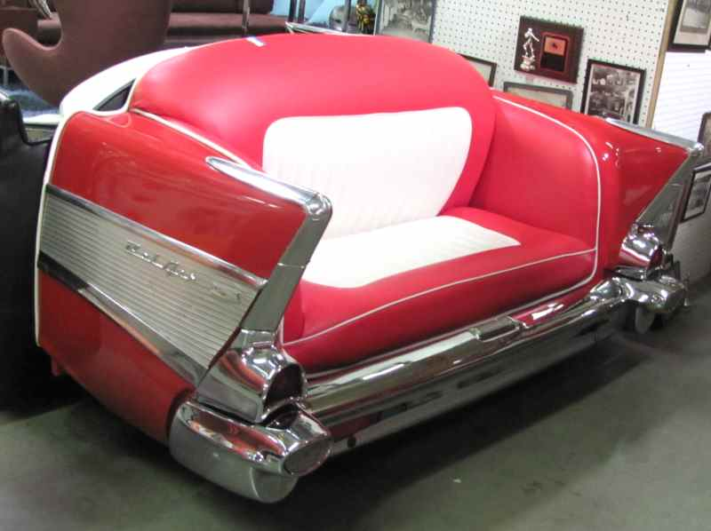 CAR SOFA-57\' CHEVY in FURNITURE > SOFAS