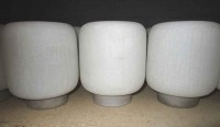 *SHORT ROUND WHITE CYLINDER-BATTERY