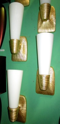GOLD SPUN WIRE SCONCE