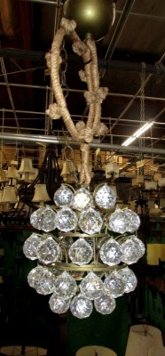 MINI CRYSTAL BALL CHANDELIER