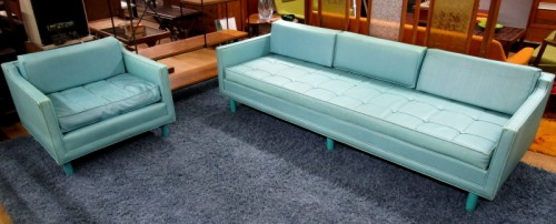 60`s LOW BACK SOFA AND CHAIR