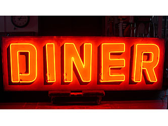 LARGE NEON DINER SIGN