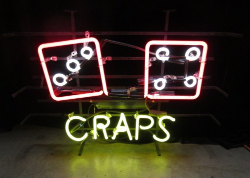 CRAPS NEON WITH DICE
