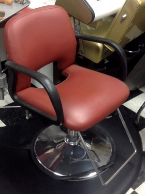 DARK RUST COLOR SALON CHAIRS