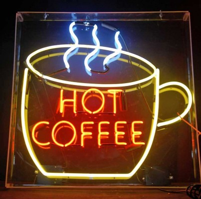 HOT COFFEE NEON CUP