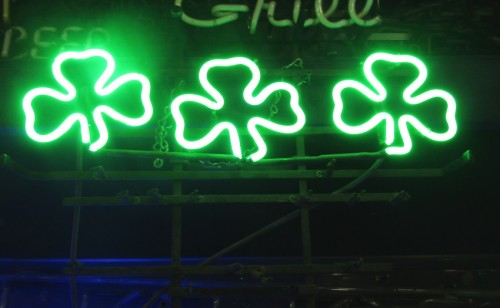 THREE 3 LEAF CLOVERS