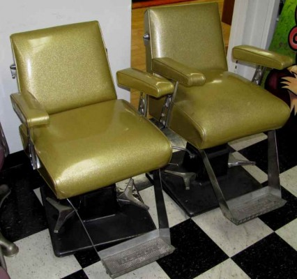 GOLD SALON CHAIRS